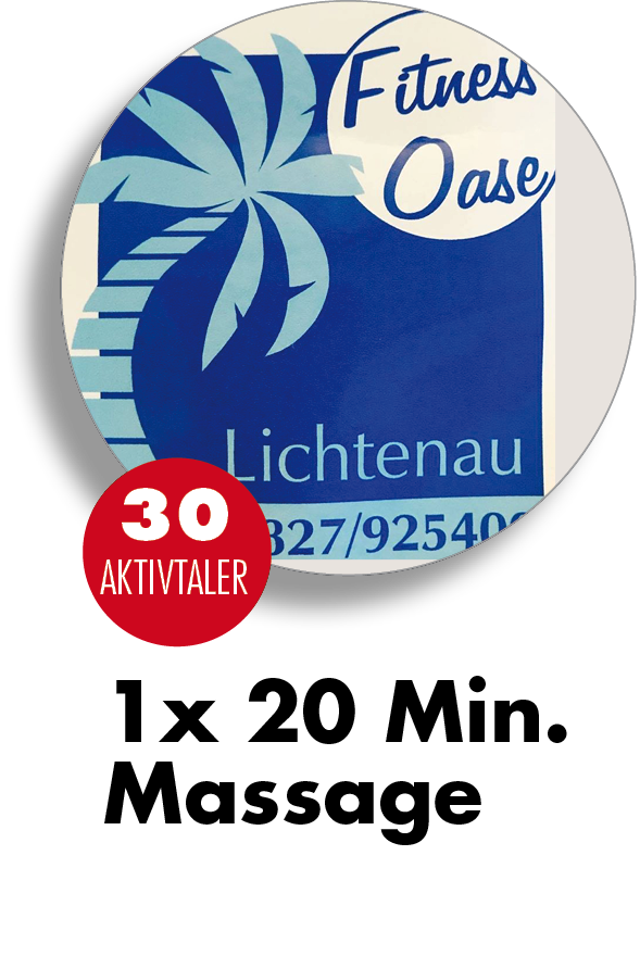 Fitness Oase Lichtenau 1x Massage